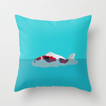 Japanese Fish Throw Pillow by Shu | Formanuova