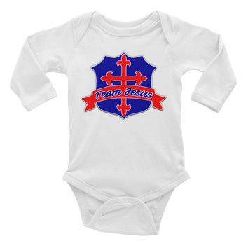 Infant Team Jesus Long Sleeve Onesuit