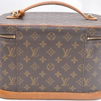 Auth Louis Vuitton Monogram Nice 2way Cosmetic Hand Bag Vanity M47280 LV 44338