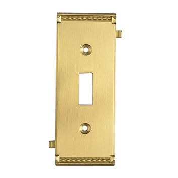 Elk Lighting 2504BR Brass Middle Switch Plate