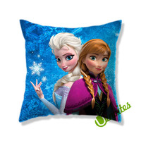 Elsa And Anna Frozen Square Pillow Cover