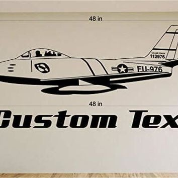 Airplane Fighter Jet Car Wall Decals Stickers Graphics Man Cave Boys Room Décor