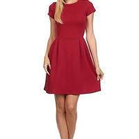Red Quilted Dress