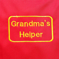 Grandma's Helper Embroidered Childs Apron
