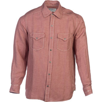 Ryan Michael & Barn Fly Trading Vintage Pick Stitch Houndstooth Shirt - Long-Sleeve - Men's