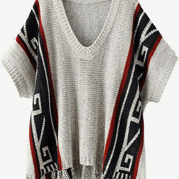Cupshe You're A Champ Jacquard Tassel Sweater