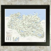 Skyrim Map National Park Style 16x20 Poster