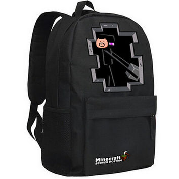 Minecraft backpack model Enderman school bag
