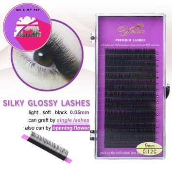 Individual False Eyelashes Extension Natural Fake Eyelash Eye Lashes Mink Eyelash Extention Black Set 0.05 C/D/L Private Label