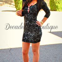 DROP DEAD GORGEOUS DAMASK DRESS