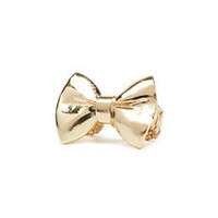 Golden Bow Stretch Ring: Charlotte Russe