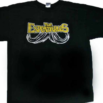 Vintage The Expendables Band Shirt with Mustache Graphic Mens Size XL