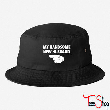 My Handsome New Husband bucket hat