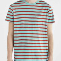 BDG Standard-Fit Nautical Stripe Pocket Tee-