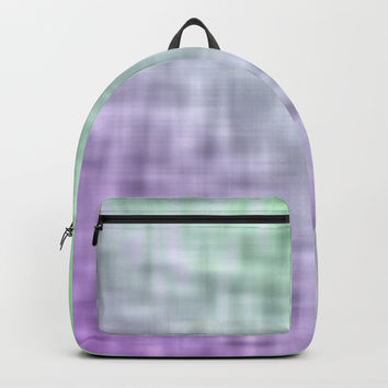 Green and purple mist abstract design Backpack by edrawings38