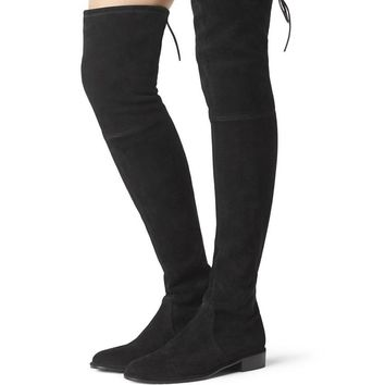 2017 women thigh high boots over the knee motorcycle boots winter and autumn woman shoes plus size 4-11 botas mujer femininas