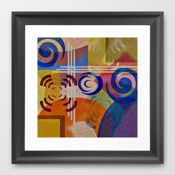 COLOR BLAST Framed Art Print by Robleedesigns