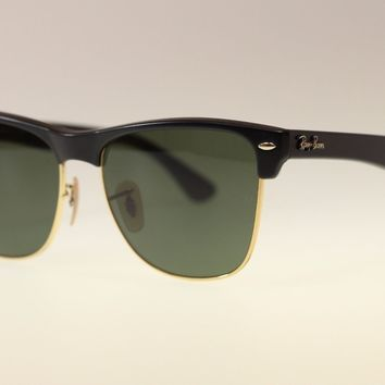 Ray Ban Men's Sunglasses RB4175 877 Black With Green Lens Square 57mm Authentic