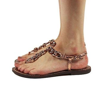 CREYI7E Sam Edelman for Women: Grella Copper Sandals