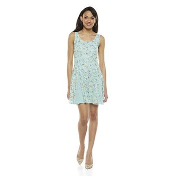 Disney's Cinderella Floral Lace Godet Dress - Juniors