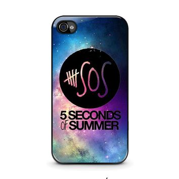 5 seconds of summer 1 5sos iphone 4 4s case cover  number 1