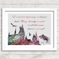 Harry Potter Hogwarts Watercolor Art Poster Print, Dementor, Wall Art, Home Decor, Boy's Gift, Not Framed, Buy 2 Get 1 Free! [No. 69]