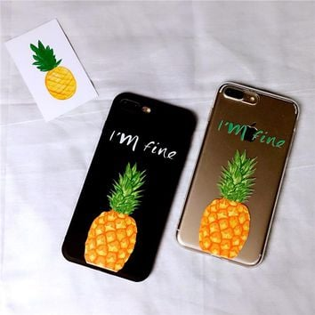 I am Fine Pineapple Case for iPhone