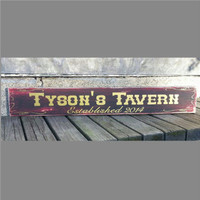 Bar Sign, Pub Sign, Man Cave, Groomsmen Gift, Wedding Party Gift, Gift for Man, Gift for Guy, Custom Wooden sign, Simply Fontastic