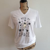 i need my space, space, astronaut, nasa shirt, jpl, shirt, nasa logo, tumblr shirt, trending, rocket, rocket ship, outer space