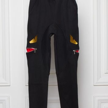 Indie Designs Fendi Inspired Monster Cotton Jogging Pants