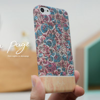 iphone case : Abstract blue floral
