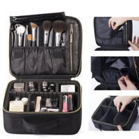 Mini Makeup Train Case with Portable EVA and freely combined