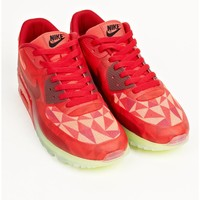 Nike Men's Red Nike Air Max 90 Ice Sneakers