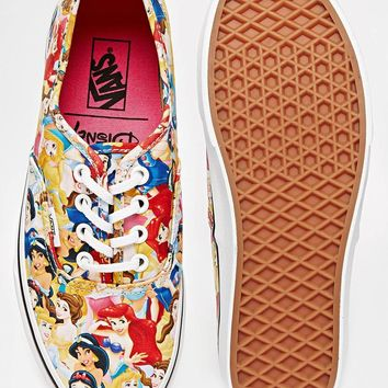 Vans Authentic Disney Princesses Plimsoll Trainers