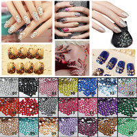1000pcs 2mm FlatBack Resin Rhinestones DIY Nail Art Mobile Phone SS6 Loose Beads Stones 22 Colors for Slection