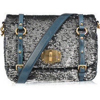 Miu Miu | Sequin-embellished leather bag | NET-A-PORTER.COM