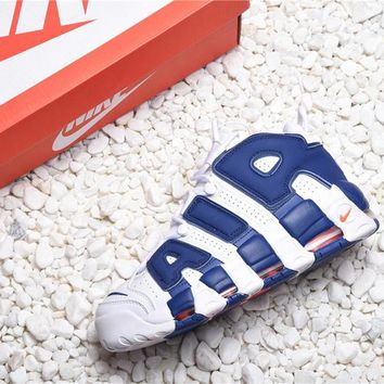 6dc076f3b9be Nike Air More Uptempo Knicks aka The Dunk Basketball Shoes - Bes
