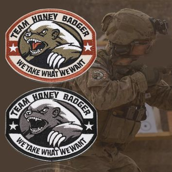 New Team Honey Badger Military Tactical Army Morale Combat Multicam Patch