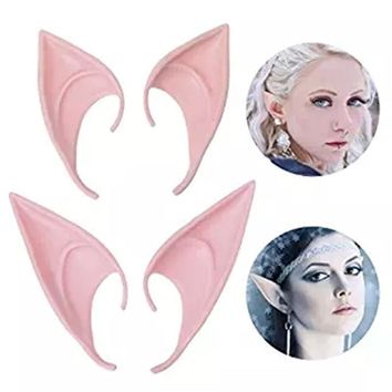 Halloween New Arrival Mysterious Angel Cosplay Masks Elf fairy  Party Ears Accessories Anime Costume Dress Up(Color 1#) 2Pair