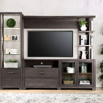 Furniture of america CM5900-TV-3PC 3 pc Tienen gray finish wood TV entertainment center