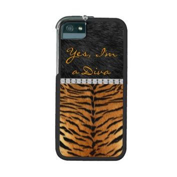 Yes I'm a Diva, Tiger print, iPhone 5 Graft Case
