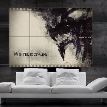 Game of thrones House Stark sigil Poster print wall art HH11188 S10