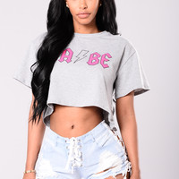 Such A Babe Tee - Grey