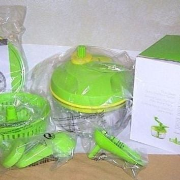 Tupperware PRO QUICK GREEN CHEF Food Chopper Onions Veges NEW