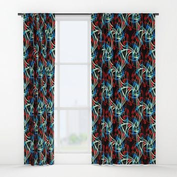 Crazy Wild Pattern Window Curtains by kasseggs