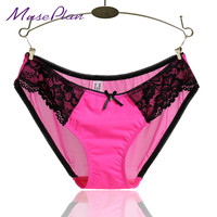 women sexy lace panties seamless cotton breathable underwear Hollow briefs Plus Size girl  panty