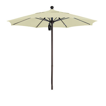 7 1/2 Foot Sunbrella 1A Fabric Aluminum Pulley Lift Patio Patio Umbrella with Bronze Pole