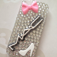 MAC Makeup Sparkly Bling iPhone 5 Swarovski Protective Case Cover