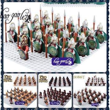 toys 1leader+20pcs LegoINGlys Castle Knights The Lord of the Rings Blocks Brick Toy Armor The Hobbit Gladiatus Figures