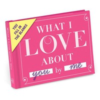 Knock Knock ''What I Love About You'' Fill-In-The-Blank Gift Book